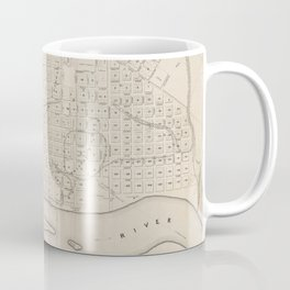 Vintage Map of St. Paul Minnesota (1860) Coffee Mug