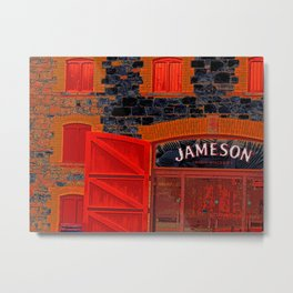 Jameson whiskey - modern photography- Irish whiskey distillery building - dark & saturated Metal Print