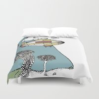 led zeppelin Duvet Covers featuring A Big Zeppelin Adventure by Indigo Images