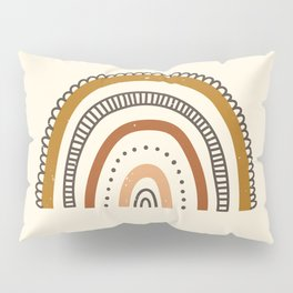 Distressed Earth Tones Rainbow Pillow Sham