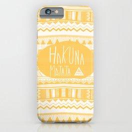 Hakuna Matata tribal navajo yellow iPhone Case