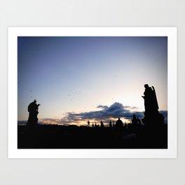 Charles Bridge at Sunrise Art Print