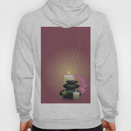 Pebbles with orchid Hoody