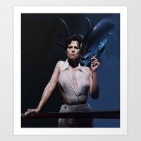 alien Art Prints featuring alien by Roman Belov
