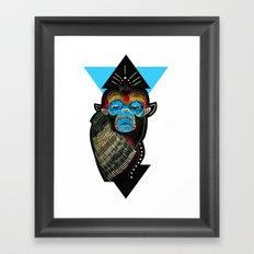 Color me Monkey Framed Art Print