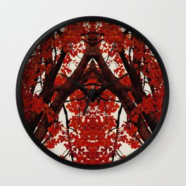 Autumn Cathedral Wall Clock