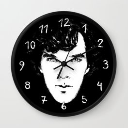 Sherlock B/W Wall Clock