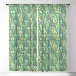 Low Green Sheer Curtain