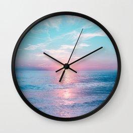 Pastel vibes 13 Wall Clock