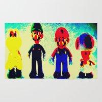 mario bros Area & Throw Rugs featuring Super Mario Bros. by Silvio Ledbetter