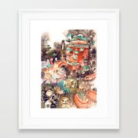 spirited away Framed Art Prints featuring Spirited Away by Foya