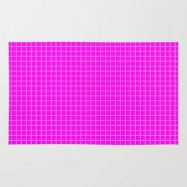 Pink Grid White LIne Rug