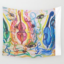 double bass party Wall Tapestry