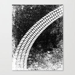 Grunge Skid Mark Canvas Print