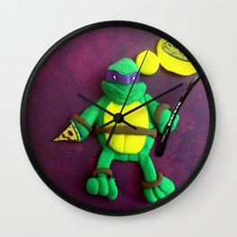 purple mask Turtle Wall Clock