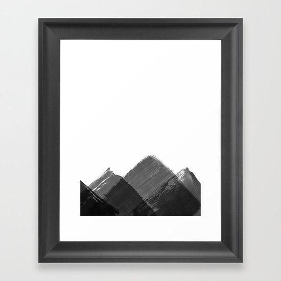 Minimalist Mountain Ink Art Print by wemakeyouhappy