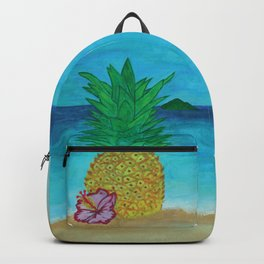 Pineapple On The Beach - Vibrant Backpack