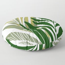 Olive Branches / Contemporary Botanical Art Floor Pillow