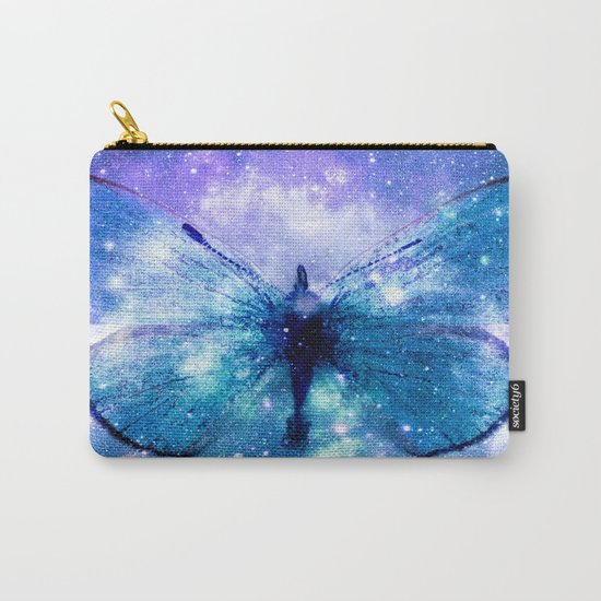 Celestial Butterfly Violet Teal Carry-All Pouch