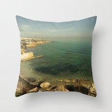 Hersonissos Cove Throw Pillow