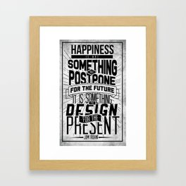 Happiness Typography  Framed Art Print