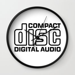 Compact Disc Digital Audio Logo Wall Clock