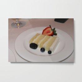 Slice of a Wedding Cake Metal Print