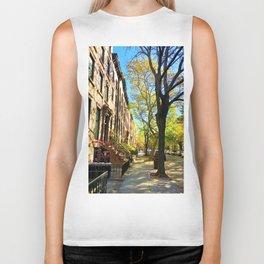 Cobble Hill Brooklyn New York in the Fall, Brownstones Biker Tank