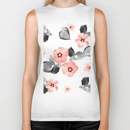 Living Coral Floral Dream #4 #flower #pattern #decor #art #society6 Biker Tank