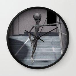 Alien Sketch Wall Clock