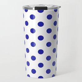 Polka Dots (Navy & White Pattern) Travel Mug