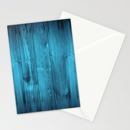 Blue Wood Planks Stationery Cards