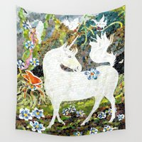 prince Wall Tapestries featuring Forest Prince by Connie Campbell