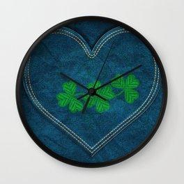 Shamrock Digital Embroidery Wall Clock