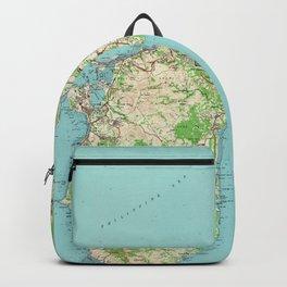 Vintage Guam Map (1965) Backpack