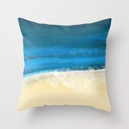 Abstract Beach and Waves Throw Pillow