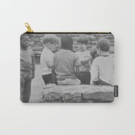 African American 'And the children shall lead us' black and white child photograph / photographic art print Carry-All Pouch