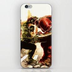 Iron man vs Hulk - Hulkbluster iPhone & iPod Skin