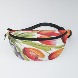 Tulips Overflowing Fanny Pack