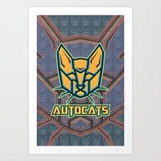 Autocats V2 Art Print