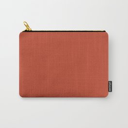 Red Clay solid color simple minimal  abstract pattern Carry-All Pouch