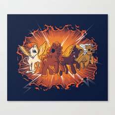 Four Little Ponies of the Apocalypse Canvas Print