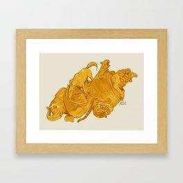 GOODBYE MY BEER Framed Art Print