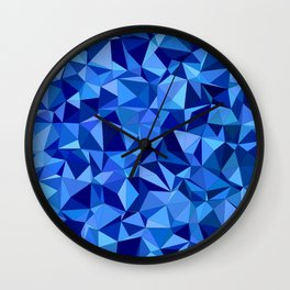 Blue tile mosaic Wall Clock
