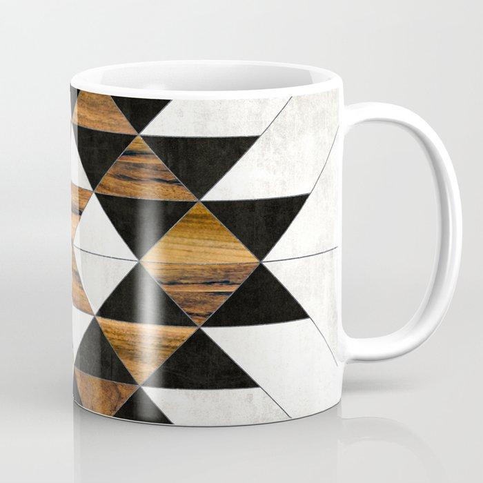 Urban Tribal Pattern No.9 - Aztec - Concrete and Wood Coffee Mug
