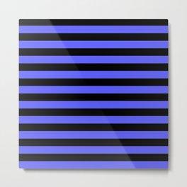 Stripes (Black & Blue Pattern) Metal Print