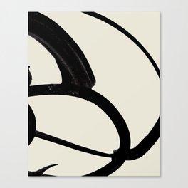 Mono Brush 1 Canvas Print