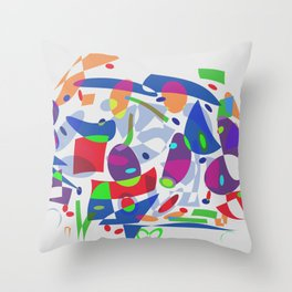 Bringing Down The House Shapes Abstract Throw Pillow