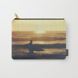Sunset Surfer at Fistral Beach, Newquay, Cornwall Carry-All Pouch