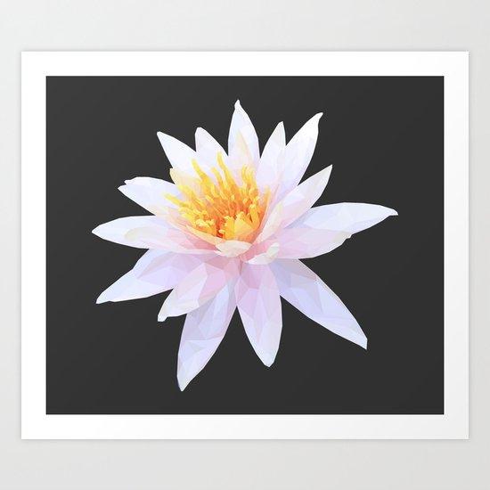 Geometric Lotus Flowers Art Print